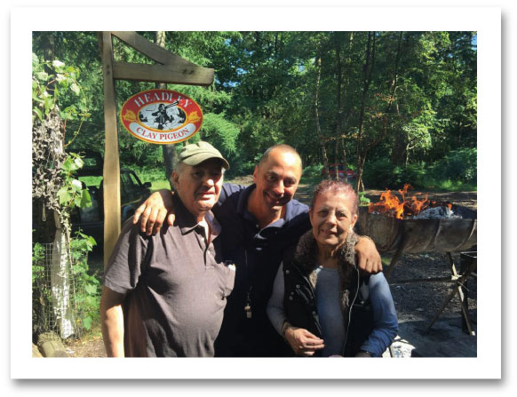 George, Effie & Phil Philoppou Owners of Headley Clay Pigeon Surrey
