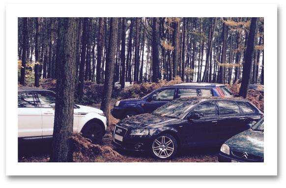 clay pigeon_shooting headley surrey car park