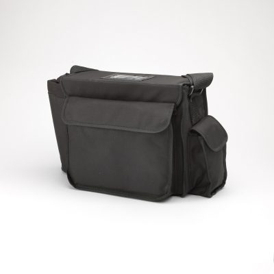 Black Canvas Gun Bag with Bottle Holder and Wallet Pouch