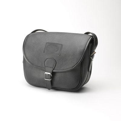 Black Leather Shooting Bag
