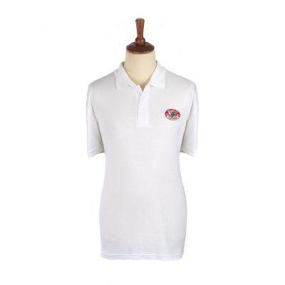 Headley Clay Pigeon Shooting Polo Shirt White