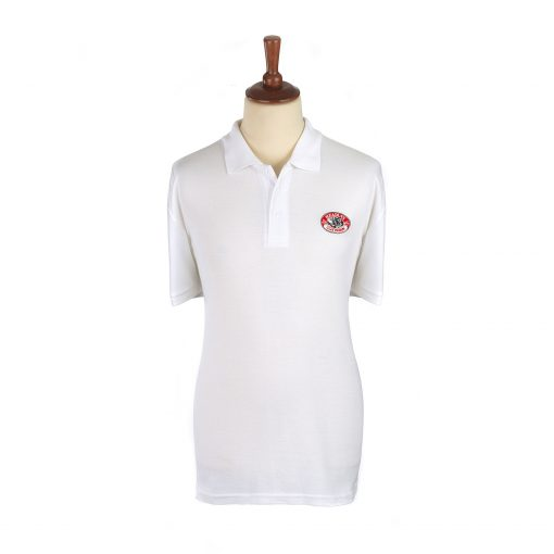 Headley Clay Pigeon Shooting Polo Shirt White